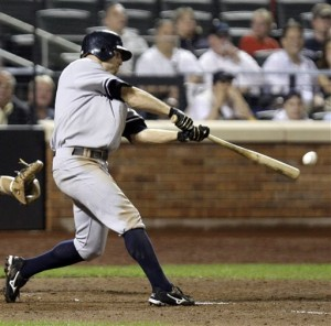 Gardner triples for his fifth hit of the night (AP Photo/Frank Franklin II)