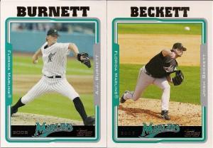 A.J. Burnett & Josh Beckett - 2005 Topps