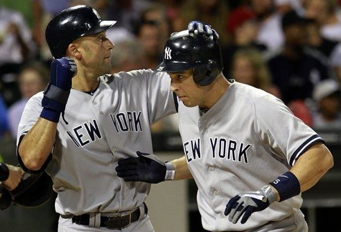 Derek Jeter and Mark Teixeira