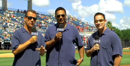 Jack Curry, Ken Singleton, John Flaherty