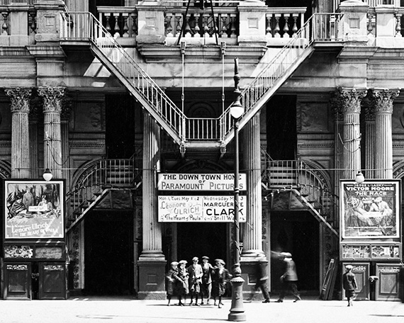 Boys in Front of 14th Street Theater