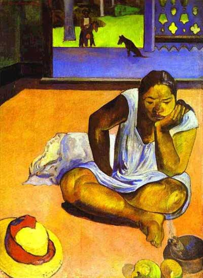 Brooding Woman Te Faaturuma Paul Gauguin