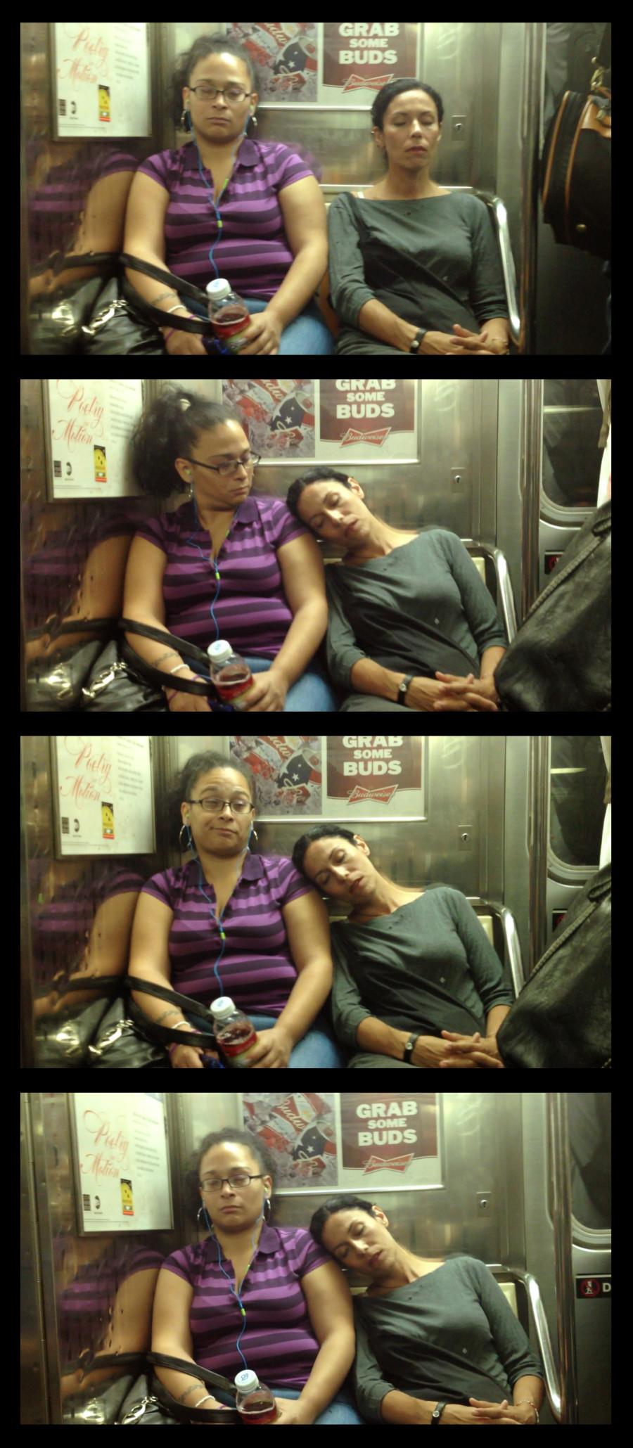 Фото спящего человека в вагоне 2