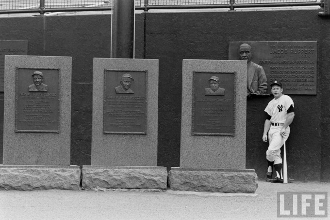 mickey mantle, monument park, yankee stadium, life