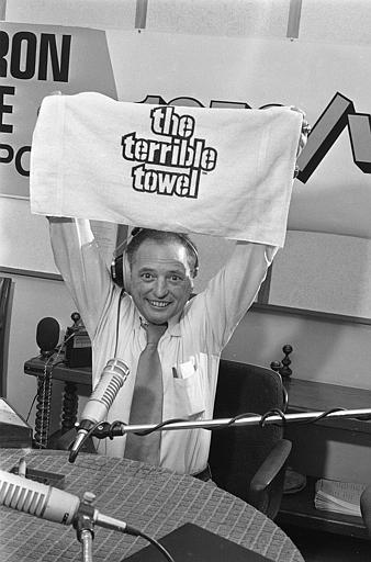 Myron Cope And Terrible Towel 1979