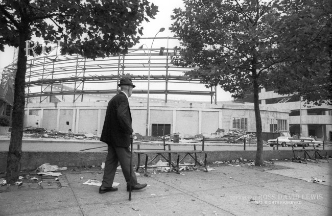 Aug 26, 1975—Old man taking a stroll.