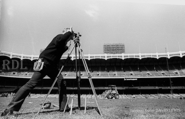 October 1, 1973—Surveryor at work.