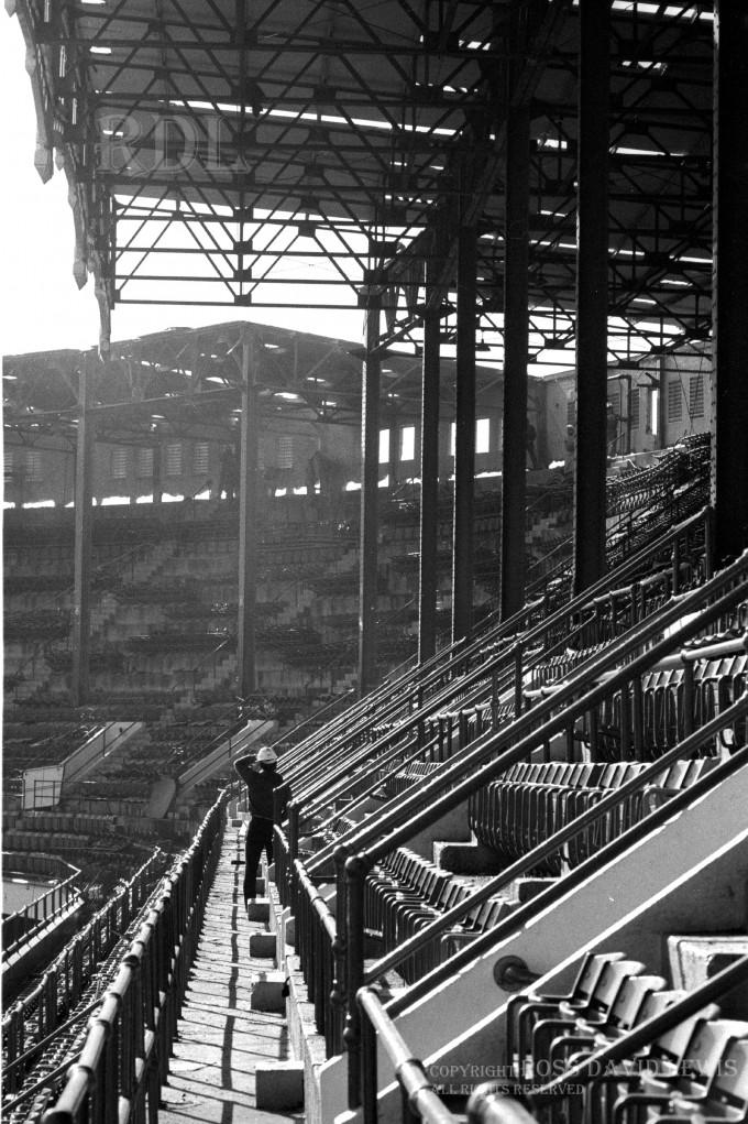 Nov, 1973—Upper Deck, left field with columns.