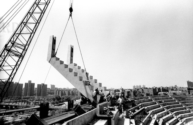 March 18, 1974—The Second Dragon Back hoisted in place.