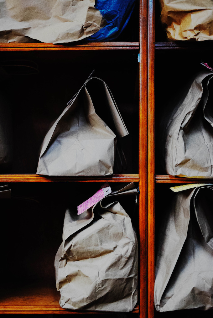 bags shelve bags