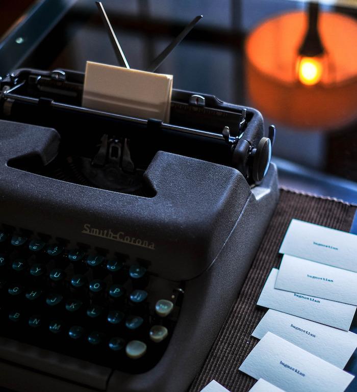bags typewriter